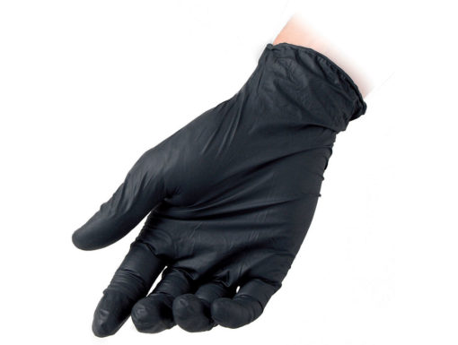 Black Powder Free Nitrile Gloves Reflexx 78