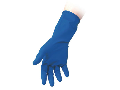Blue Powder Free Latex Gloves High Risk Reflexx 98