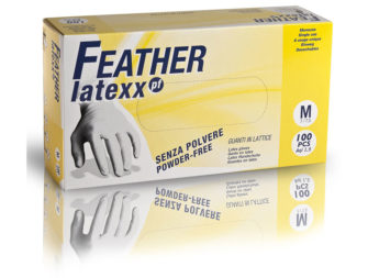 Guanti In Lattice Senza Polvere Feather Latexx