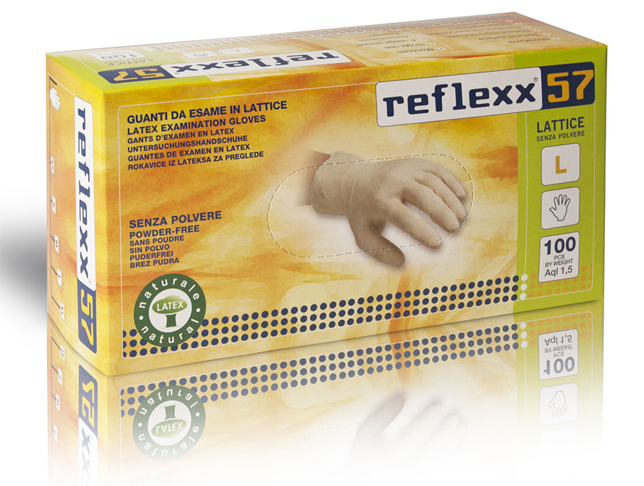 Powder Free Latex Gloves Reflexx 46