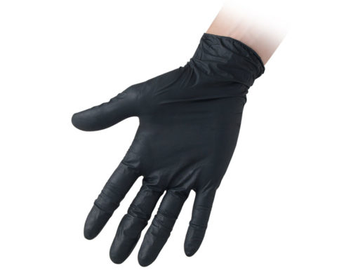 Black Powder Free Nitrile Gloves Reflexx 67