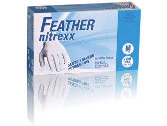 Guanti In Nitrile Senza Polvere Feather Nitrexx