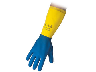 Flocklined Rubber Reusable Gloves Reflexx 94