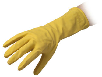 Flocklined Rubber Reusable Gloves Reflexx 90