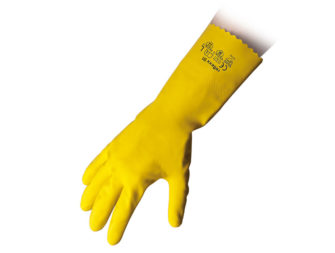 Flocklined Rubber Reusable Gloves Reflexx 91