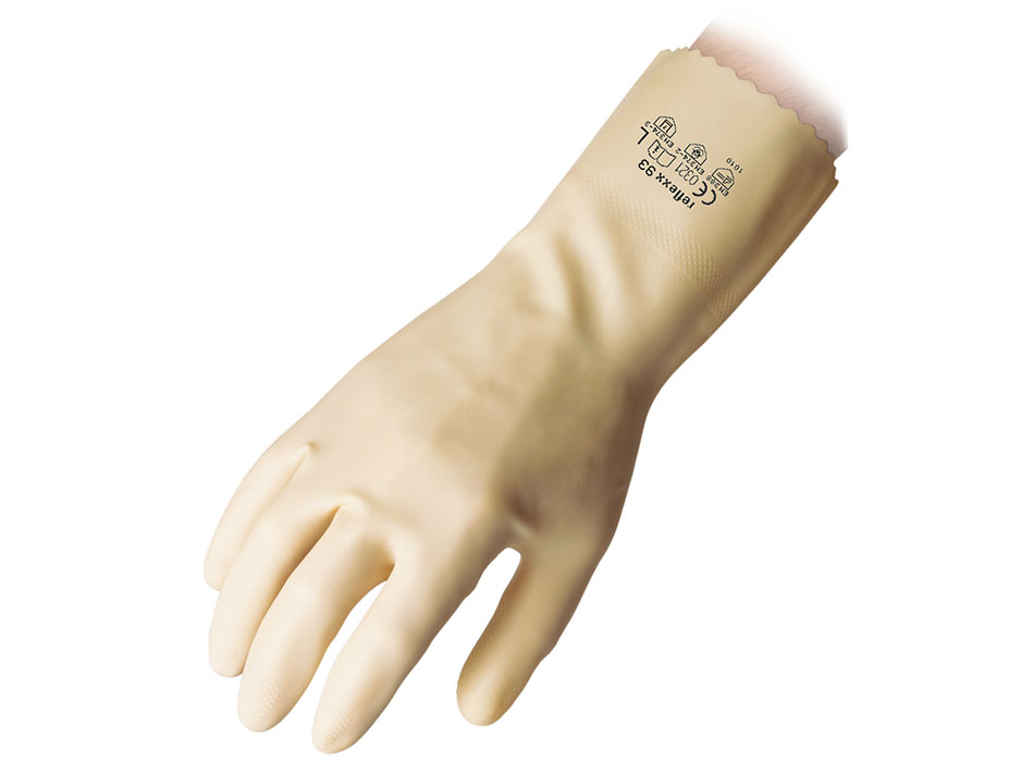 Unlined Rubber Reusable Gloves Reflexx 93 Gr 53 M