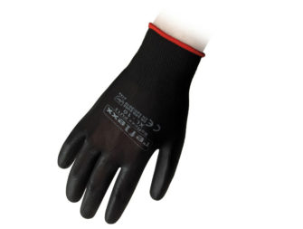 Supported Polyurethane Gloves Reflexx PU13 Black