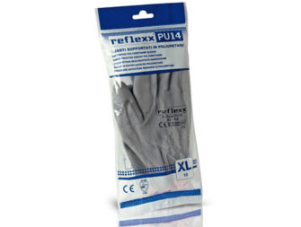 Supported Polyurethane Gloves Reflexx PU14 Grey