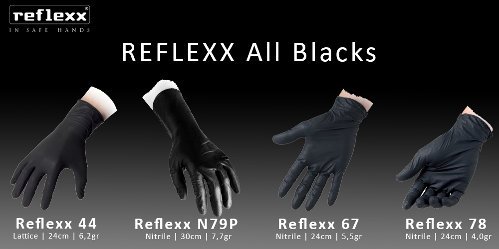 all blacks disposable gloves