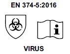 EN 374-5 2016 virus