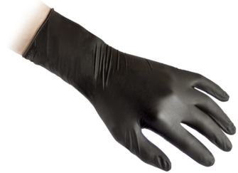 Reflexx N79 Plus N79P disposable nitrile black glove