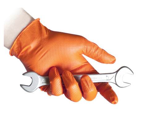 Reflexx orange nitrile glove automotive