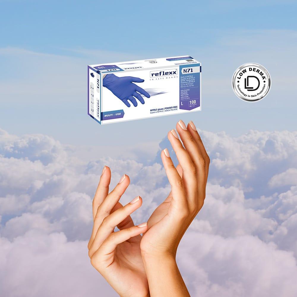 nuovo guanto reflexx n71 new glove neu handschuhe dermatite dermatitis low derma universale